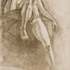 Praca zKursu Malarstwa iRysunku wOśrodku Postaw Twórczych.