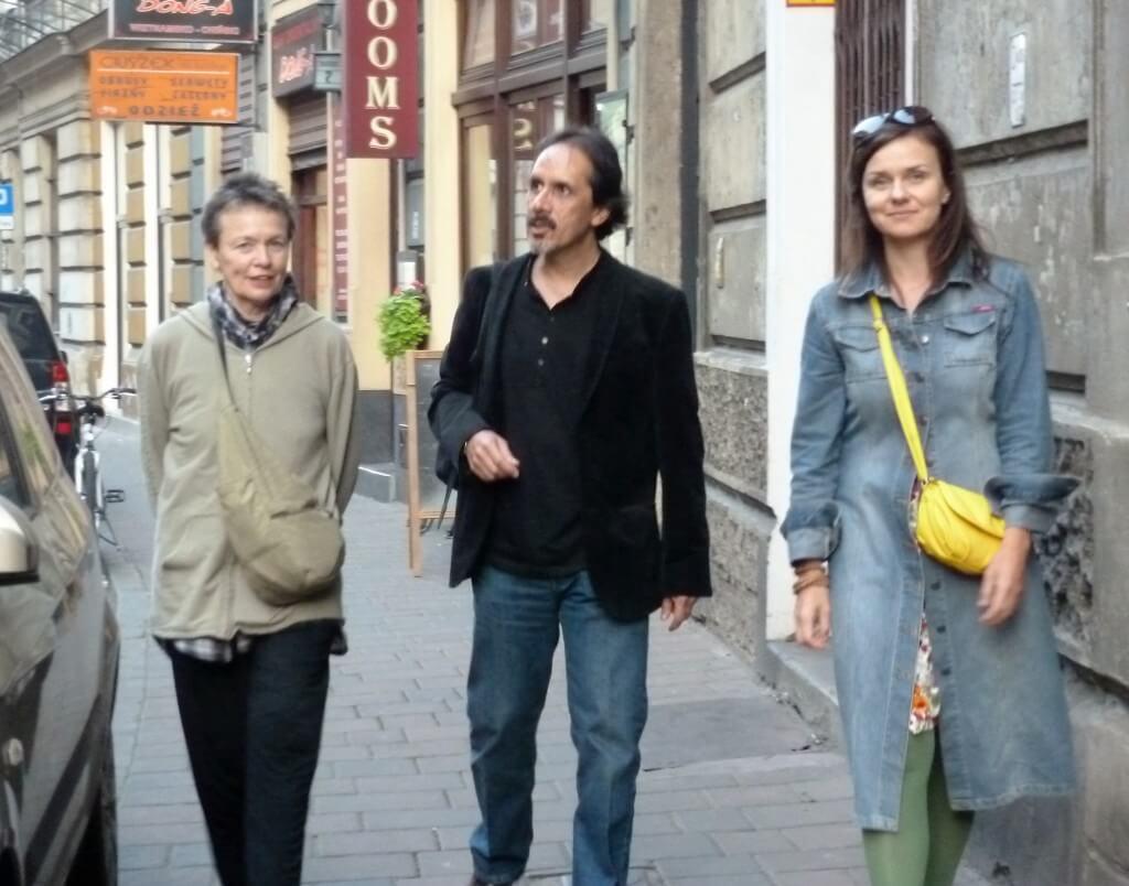 od lewej: Laurie Anderson, Gerardo Beltrán, Julia Fiedorczuk (Kraków, 2014)