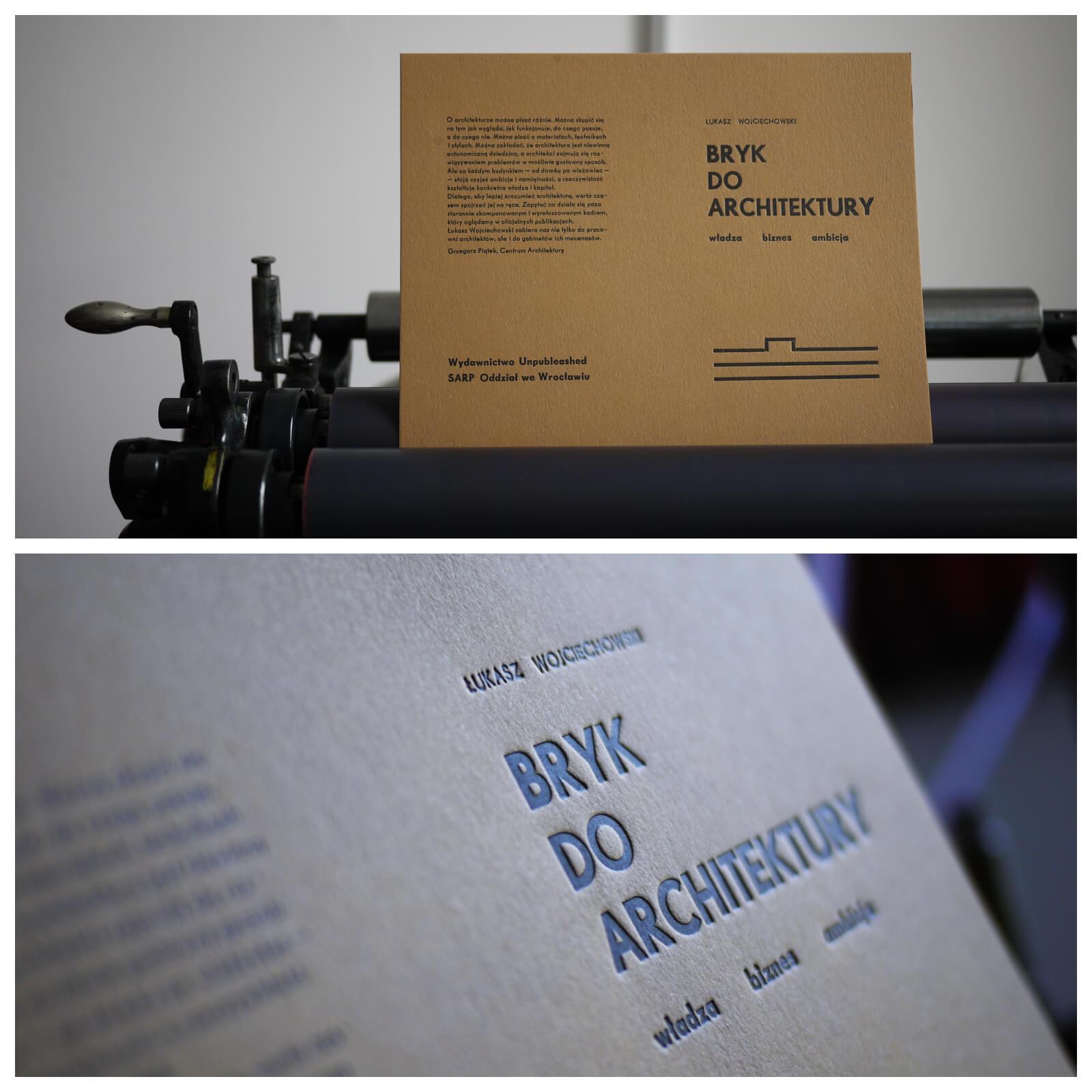 Bryk doarchitektury – druk okładki publikacji