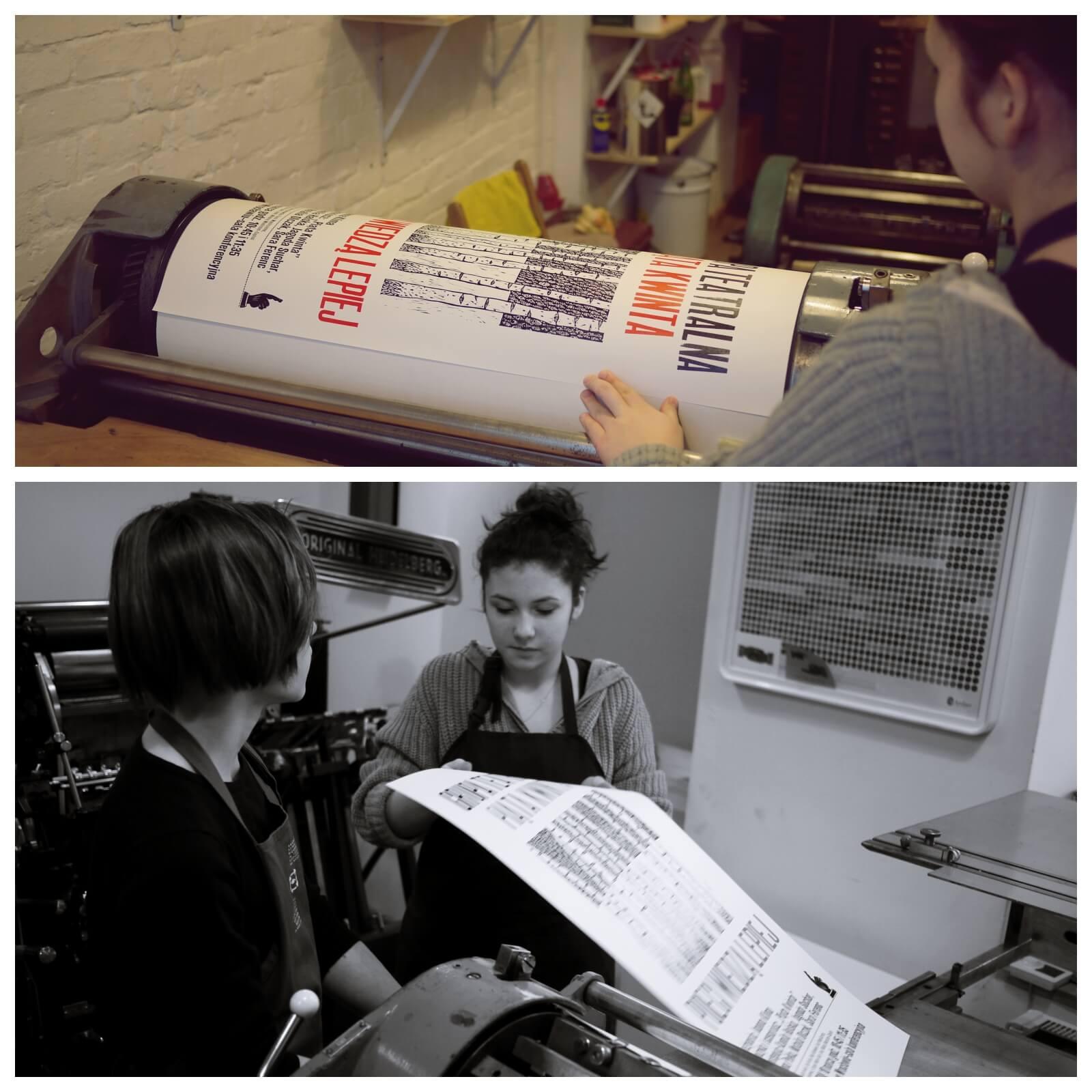 Letterpress dla dzieci imłodzieży