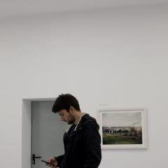 Kadr zwernisażu wystawy Pamięć wody.