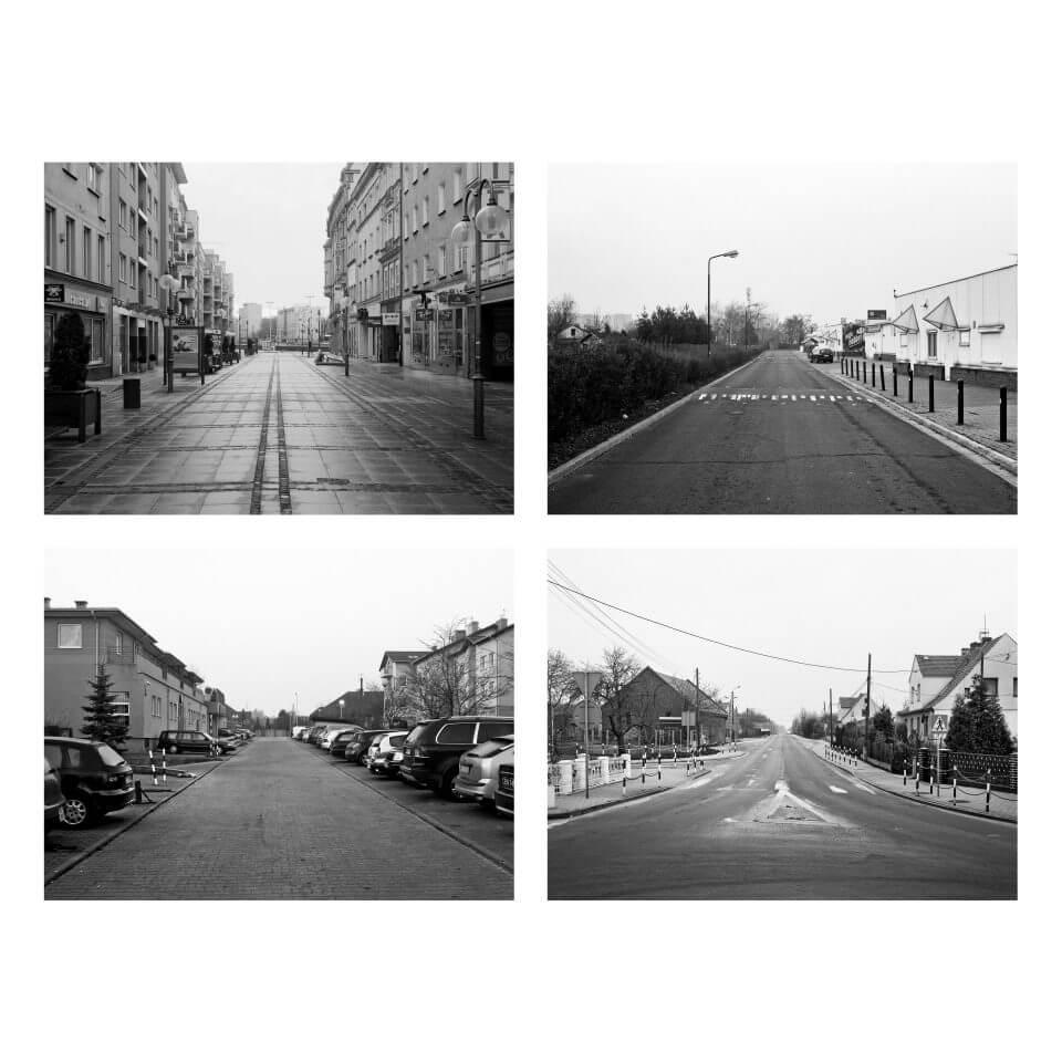 Ulica Oławska wczterech miastach: Wrocławiu, Warszawie, Częstochowie iNamysłowie.