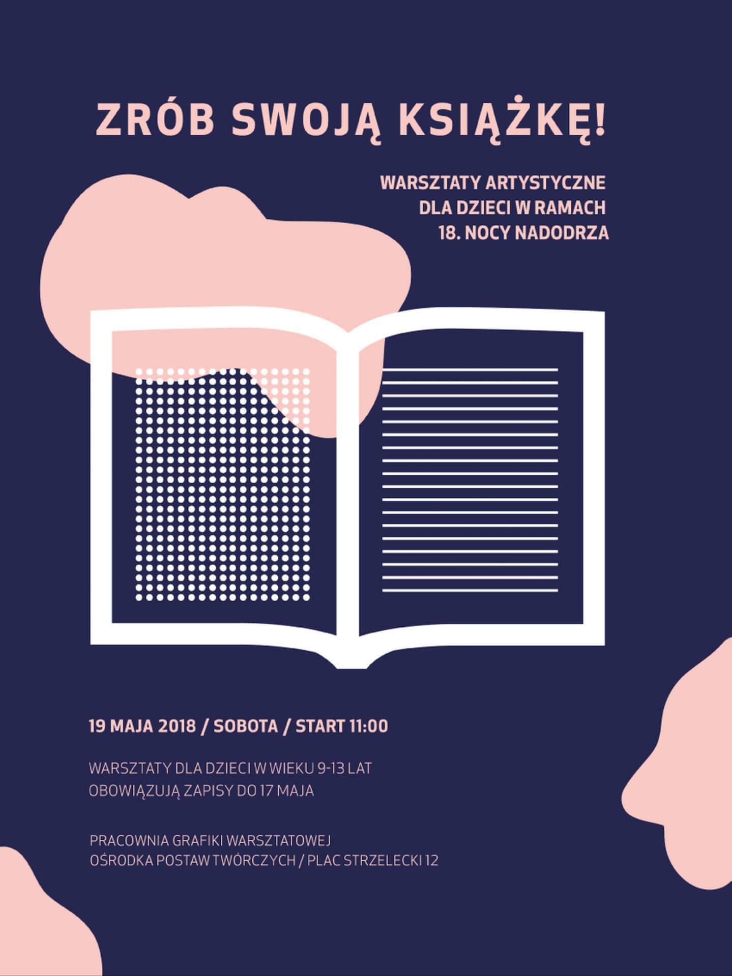 """Warsztaty artystyczne dla dzieci """"Zrób swoją książkę"""" (19.05)"""
