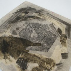 Praca wykonana nakursie litografii wOśrodku Postaw Twórczych.
