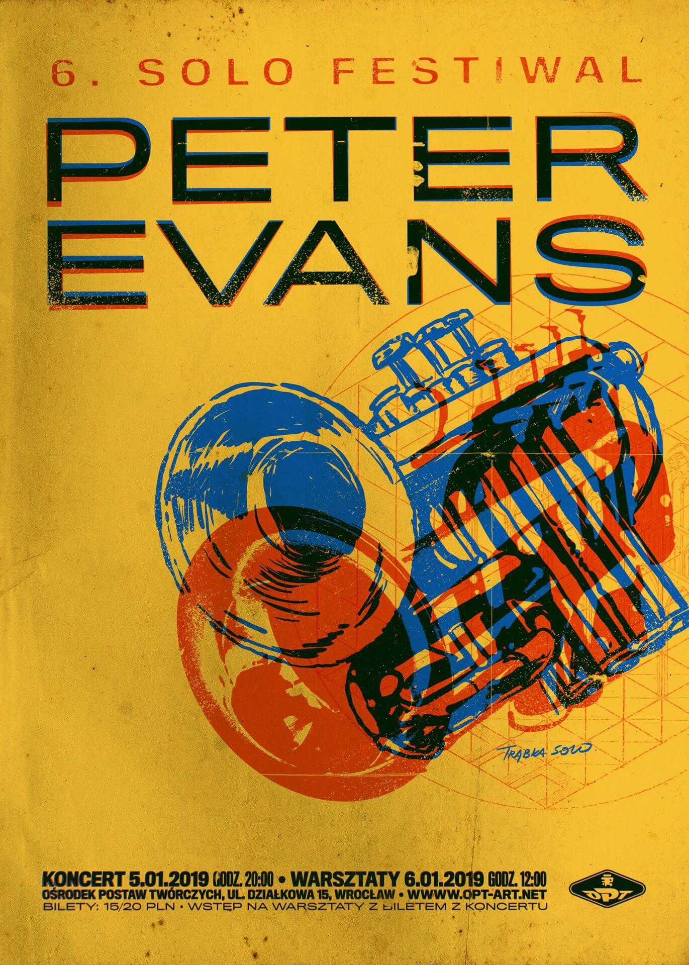Peter Evans – koncert iwarsztaty Solo Festwial (5-6.01)