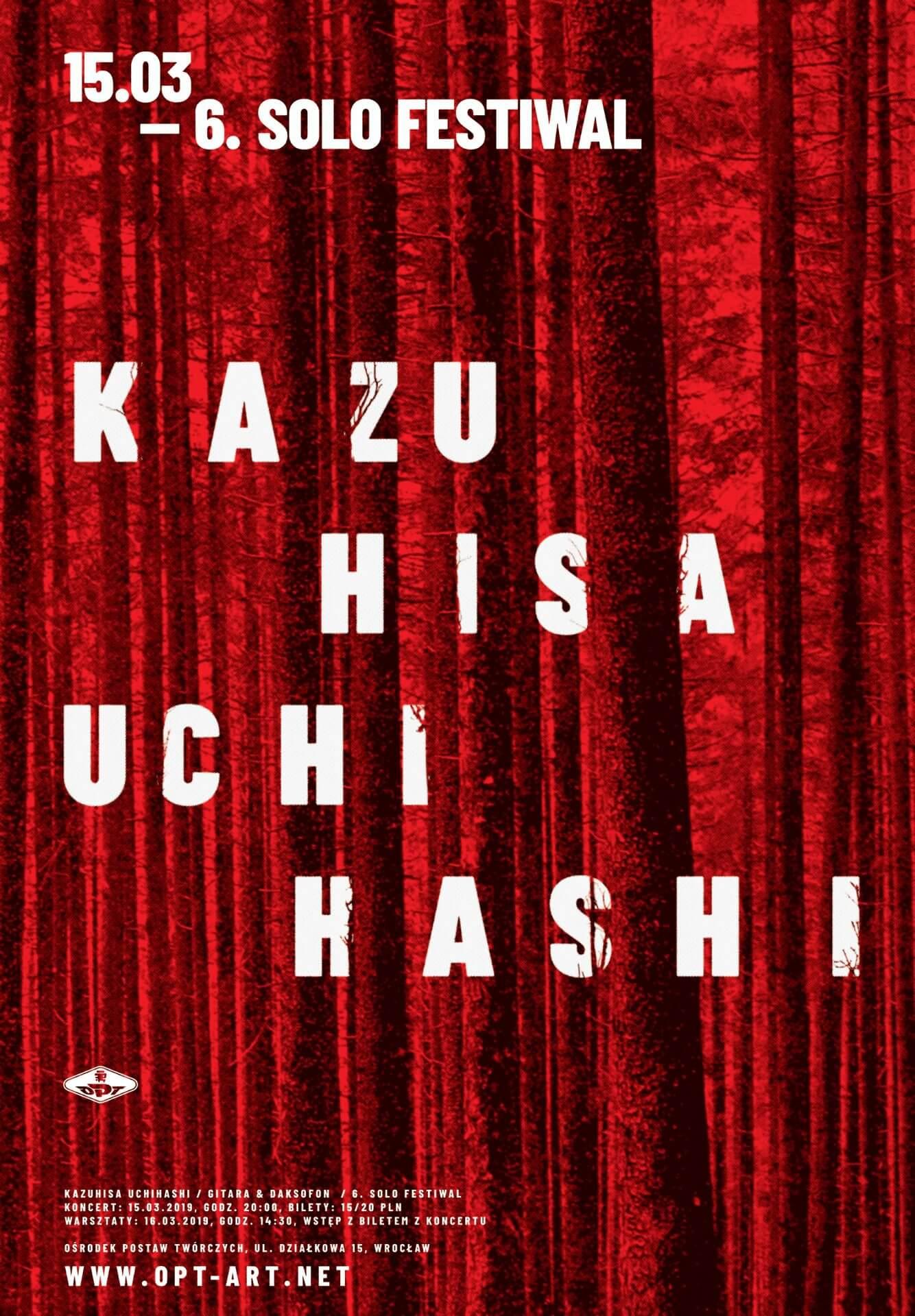Kazuhisa Uchihashi – koncert iwarsztaty Solo Festiwal (15-16.03)