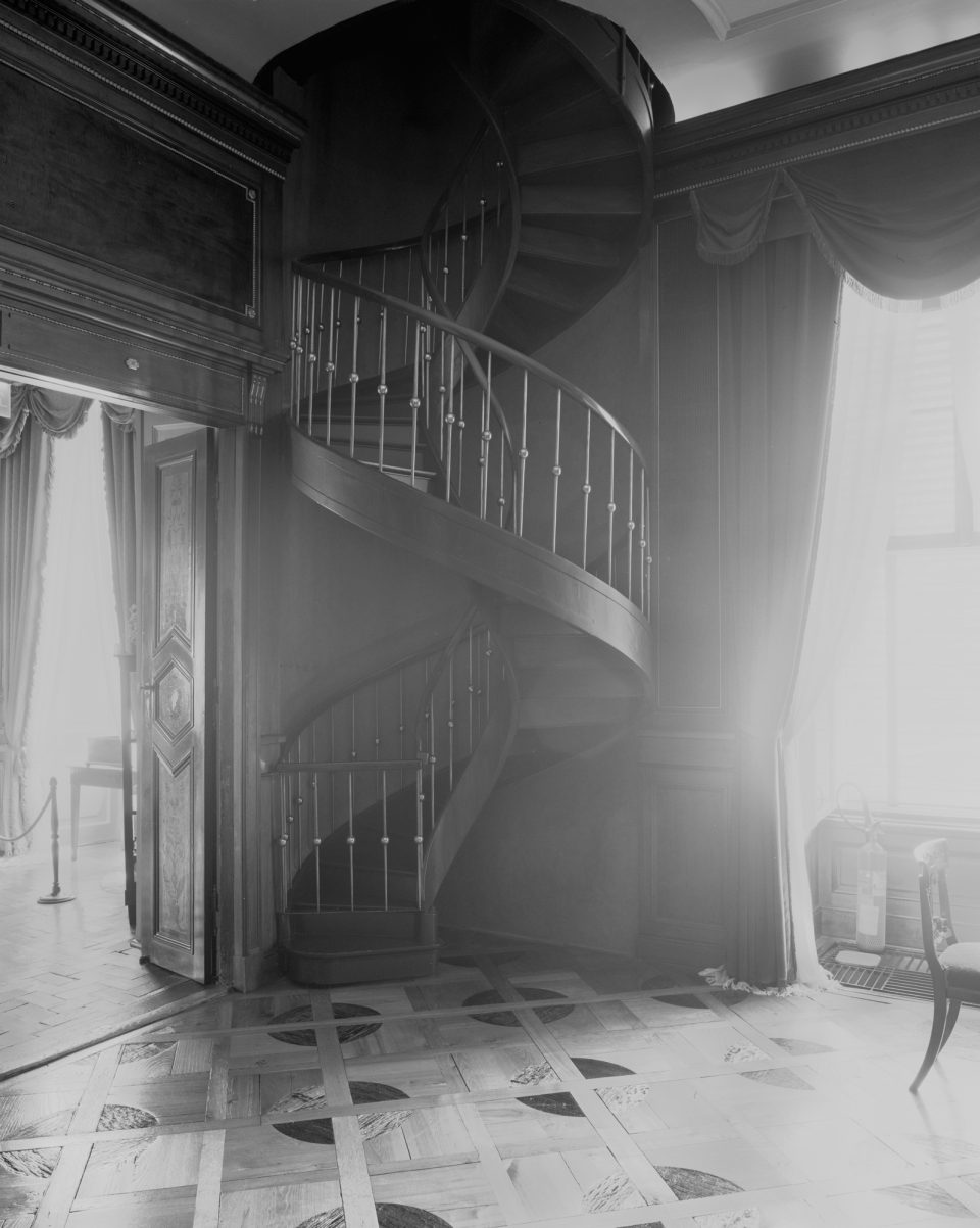 Kręcone schody.