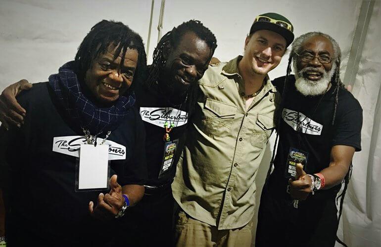 od lewej: Keith Coley, Joel Brown, Rafał Konert, Anthony Fuertado